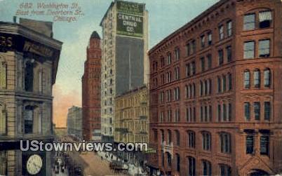 Washington St - Chicago, Illinois IL Postcard