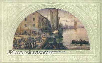 First Grain Elevator, 1838 - Chicago, Illinois IL Postcard