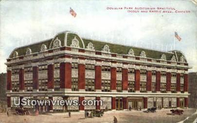 Douglas Park Auditorium - Chicago, Illinois IL Postcard