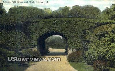 Lincoln Park Bridge - Chicago, Illinois IL Postcard