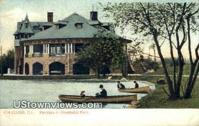 Pavilion, Humboldt Park - Chicago, Illinois IL Postcard
