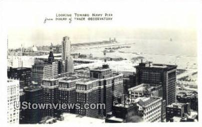 Real Photo - Board of Trade Observatory - Chicago, Illinois IL Postcard