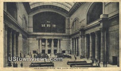 Main Waiting Room, New Union Station - Chicago, Illinois IL Postcard
