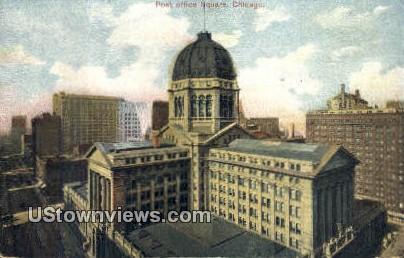 Post Office Square - Chicago, Illinois IL Postcard