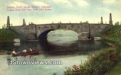 Jackson Park, Intake Bridge - Chicago, Illinois IL Postcard