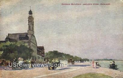 German Bldg, Jackson Park - Chicago, Illinois IL Postcard