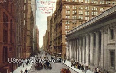 La Salle St - Chicago, Illinois IL Postcard