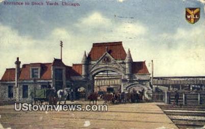 Stock Yards - Chicago, Illinois IL Postcard
