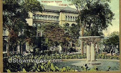 Washington Square - Chicago, Illinois IL Postcard