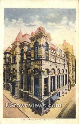 Board of Trade - Chicago, Illinois IL Postcard