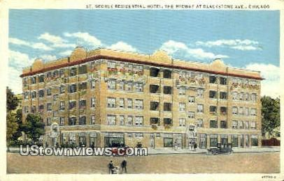St George Residential Hotel - Chicago, Illinois IL Postcard