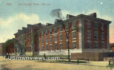 Old Peoples Home - Chicago, Illinois IL Postcard