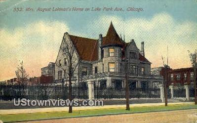Mrs August Lehman's Home - Chicago, Illinois IL Postcard