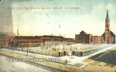 Seward Park Play Grounds - Chicago, Illinois IL Postcard