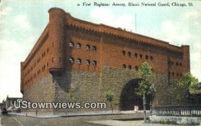 Illinois National Guard - Chicago Postcard