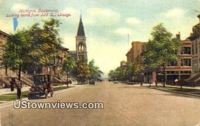 Michigan Blvd - Chicago, Illinois IL Postcard