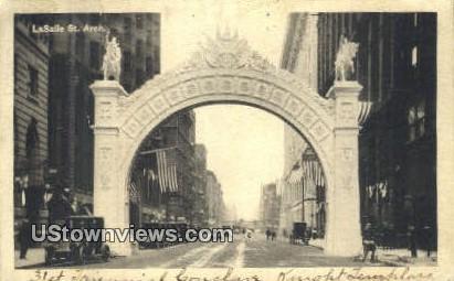 LaSalle St Arch - Chicago, Illinois IL Postcard