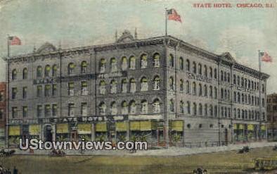 State Hotel - Chicago, Illinois IL Postcard