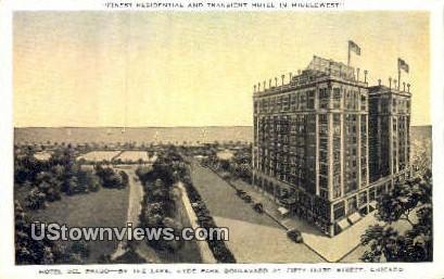 Hotel Del Prado - Chicago, Illinois IL Postcard