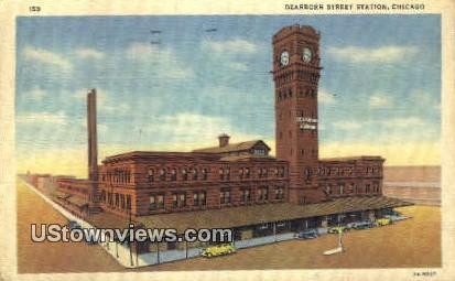 Dearborn Street Station - Chicago, Illinois IL Postcard