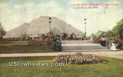 Lincoln Park, Conservatory - Chicago, Illinois IL Postcard