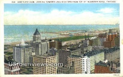 Lake Michigan, Morrison Hotel - Chicago, Illinois IL Postcard