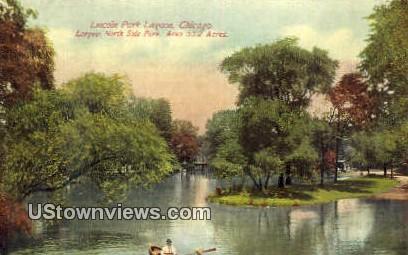Lincoln Park Lagoon - Chicago, Illinois IL Postcard