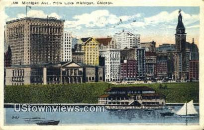Lake Michigan - Chicago, Illinois IL Postcard