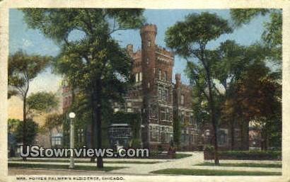 Mrs Potter Palmer's Residence - Chicago, Illinois IL Postcard