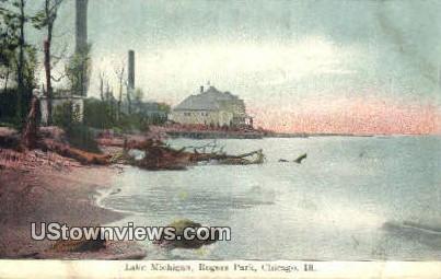 Lake Michigan, Rogers Park - Chicago, Illinois IL Postcard