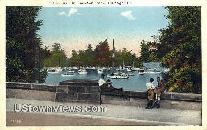Lake, Jackson Park - Chicago, Illinois IL Postcard