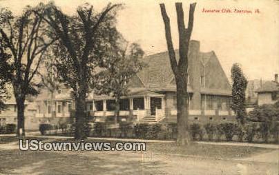 Evanston Club - Illinois IL Postcard