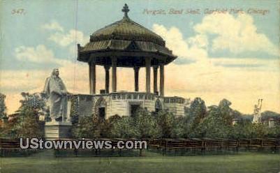 Band Shell, Garfield Park - Chicago, Illinois IL Postcard