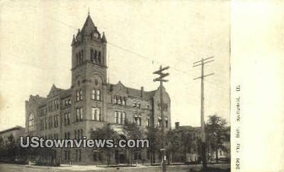 City Hall - Springfield, Illinois IL Postcard