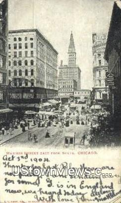 Madison Street - Chicago, Illinois IL Postcard