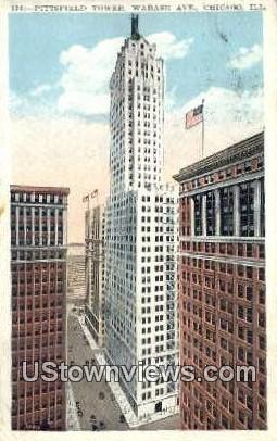 Pittsfield Tower - Chicago, Illinois IL Postcard