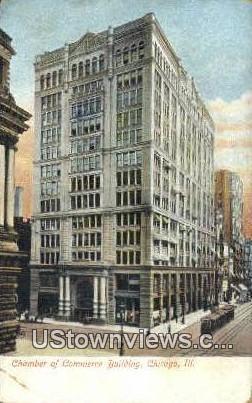 Chamber of Commerce Bldg - Chicago, Illinois IL Postcard