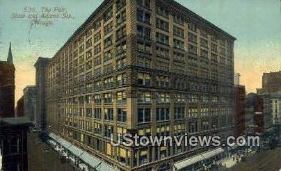 The Fiar State & Adams St - Chicago, Illinois IL Postcard