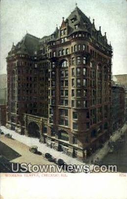 Women's Temple - Chicago, Illinois IL Postcard