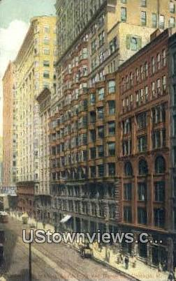 Van Buren St - Chicago, Illinois IL Postcard