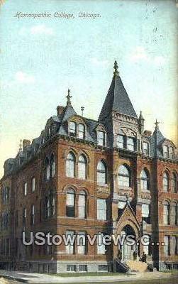 Homeopathic College - Chicago, Illinois IL Postcard