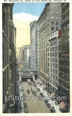 Dearborn Street - Chicago, Illinois IL Postcard