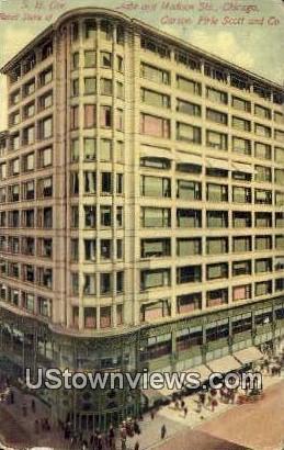 S.E. Cor Retail Store of Carson - Chicago, Illinois IL Postcard