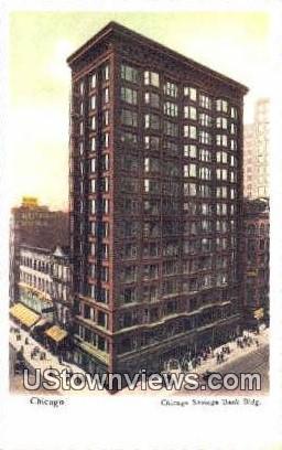 Chicago Savings Bank Bldg - Illinois IL Postcard