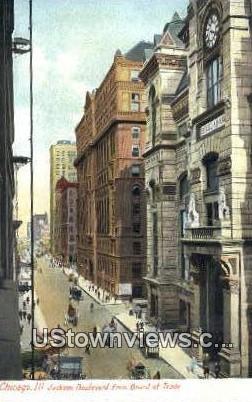 Jackson Blvd - Chicago, Illinois IL Postcard