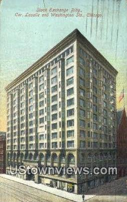 Stock Exchange Bldg - Chicago, Illinois IL Postcard
