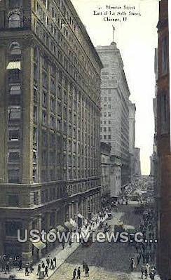 Monroe Street - Chicago, Illinois IL Postcard