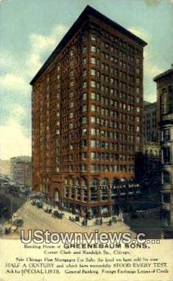 Banking House of Greenebaum Sons - Chicago, Illinois IL Postcard