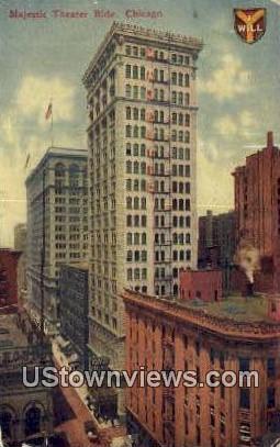 Majestic Theatre - Chicago, Illinois IL Postcard
