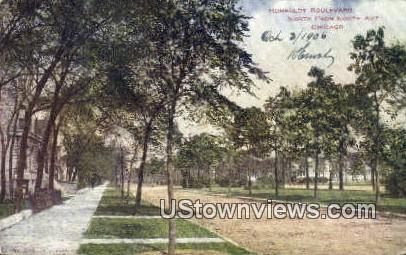Humboldt Blvd - Chicago, Illinois IL Postcard